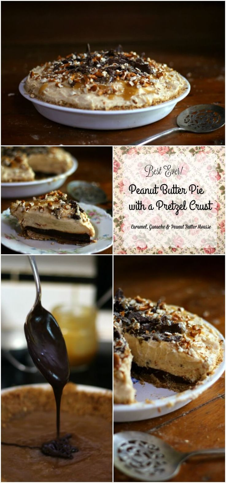 Creamy peanut butter mousse is swirled on top of layers of rich ganache and…