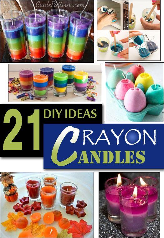 21 DIY Crayon Candles