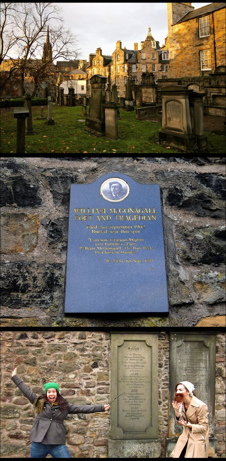 Site #51a of Harry Potter Places Book Five Part One is GREYFRIARS KIRKYARD in Edinburgh. Here you'll find several Potterlicious places to take pix of, such as the gravestone that inspired JKR's naming of Professor McGonagall, as well as the gravestones of Thomas Riddle Esquire and his son, Thomas Riddle (aka VOLDEMORT!)  http://www.harrypotterplaces.com/scotland-hogwarts-home/   http://en.wikipedia.org/wiki/Greyfriars_Kirkyard  #HarryPotter #Potterheads #Hogwarts