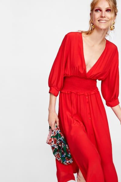 9fd5d074 Image 2 of DRESS WITH ELASTIC WAISTBAND from Zara | Dress | Dresses ...