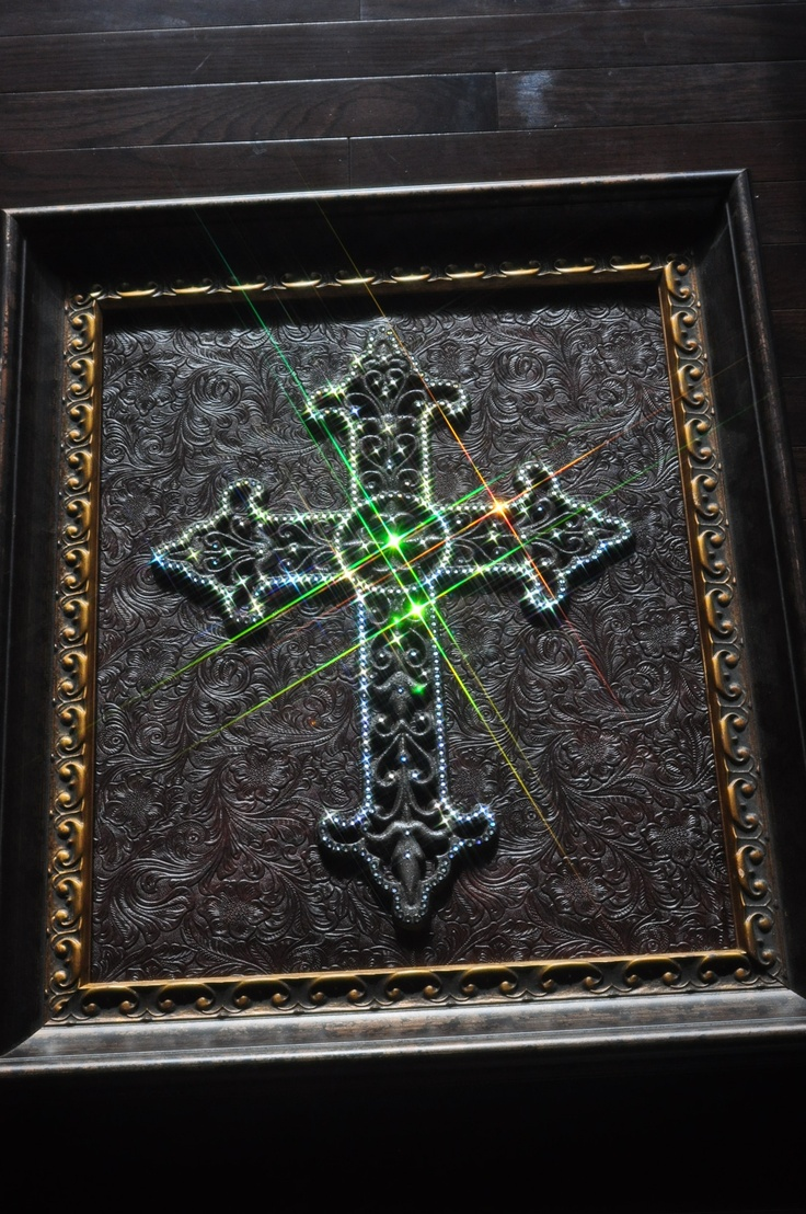 Swaroski crystal covered Cross. What a bunch of work this one was, but turned out nice.