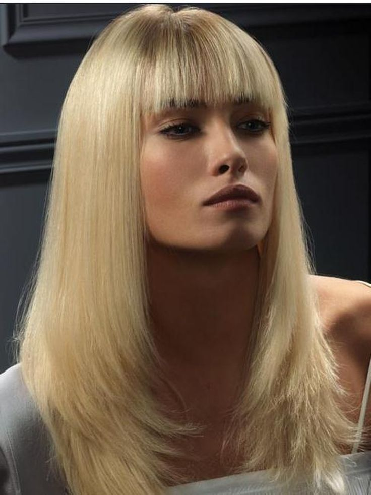Best Full Lace Wig Long Straight Blonde Wig With Bang 100