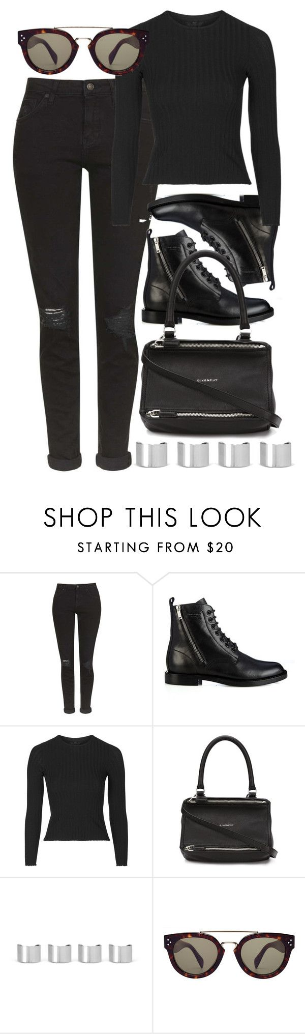 """Untitled #4722"" by style-by-rachel ❤ liked on Polyvore featuring Topshop, Yves Saint Laurent, Givenchy, Maison Margiela and CÉLINE"
