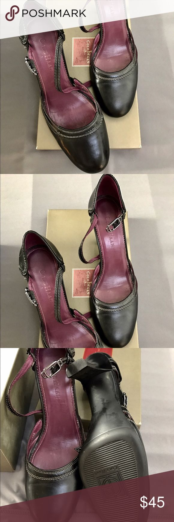 Cole Haan Mary Janes Worn a 1-2 times. Classic Mary Jane style with stitching. Cole Haan Shoes Heels