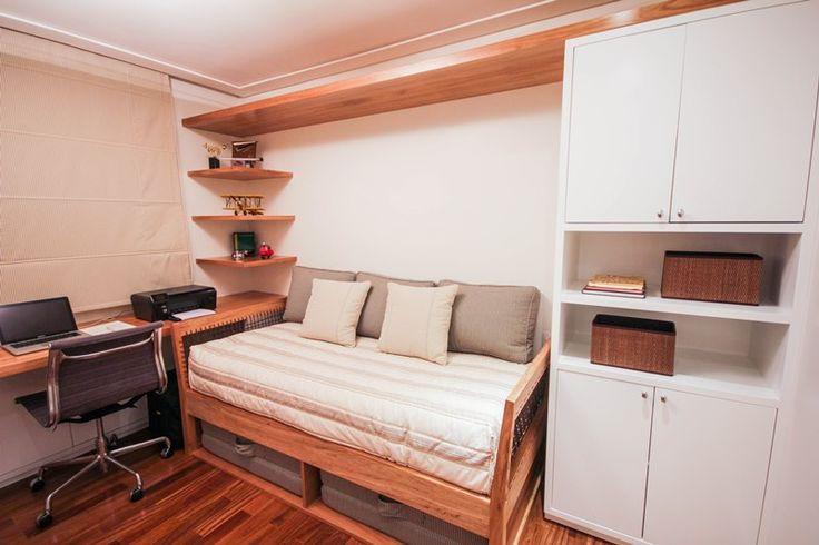Assim eu gosto: arquitetura, decoração, design e moda. Quarto de hóspedes e escritório em casa.