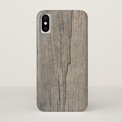 Cool Rustic Wood Texture iPhone X Case - rustic style country natural diy customize personalize