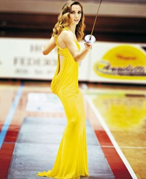 More a case of fashionable fencers. The photo is of Valentina Vezzali