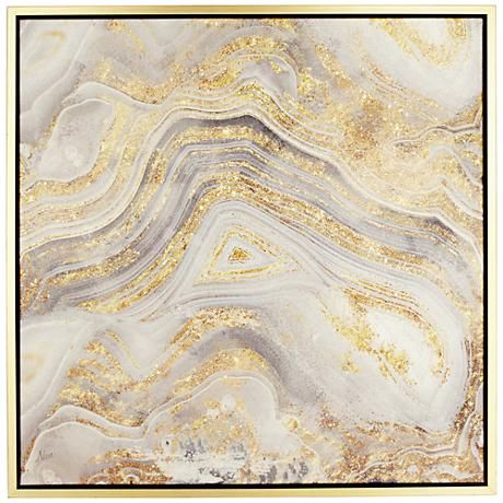 Add a luxe touch to your décor with this Golden Sands of Time II wall art boasting a beautiful blend of moody gray and glittering gold.