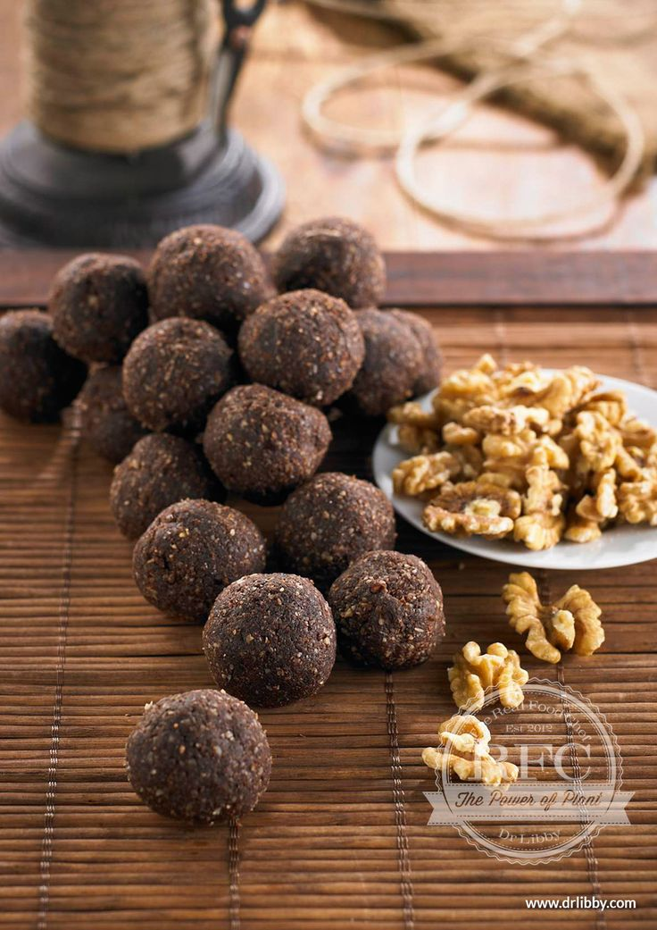 Brain Balls | This chewy, nutty treat is an excellent source of the monounsaturated fats and omega-3 fatty acids that have the anti-inflammatory properties so necessary for healthy hearts and brain functions. Keep these easy to make snacks on hand for the perfect after school snack for a burst of energy or as a source of vitamin E and zinc, beneficial for skin and the immune system. | www.drlibby.com