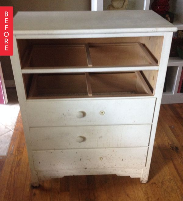 Before & After: A Broken Dresser to Modern Cabinet