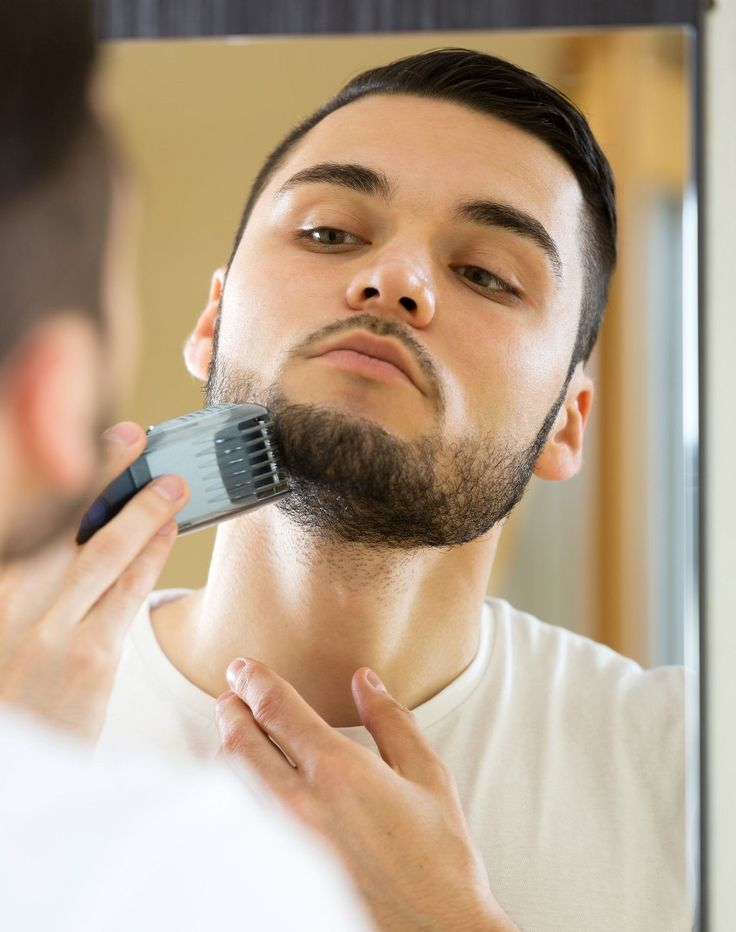 using stubble beard trimmer