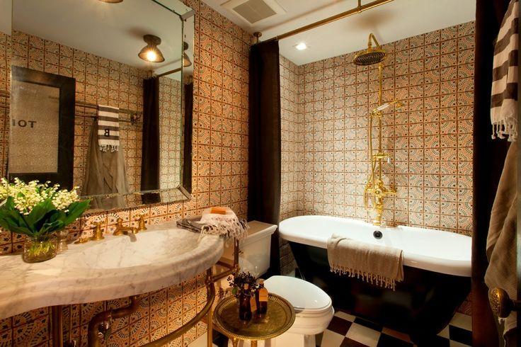 188 best images about terracotta bathroom tiles on pinterest for Terracotta bathroom ideas