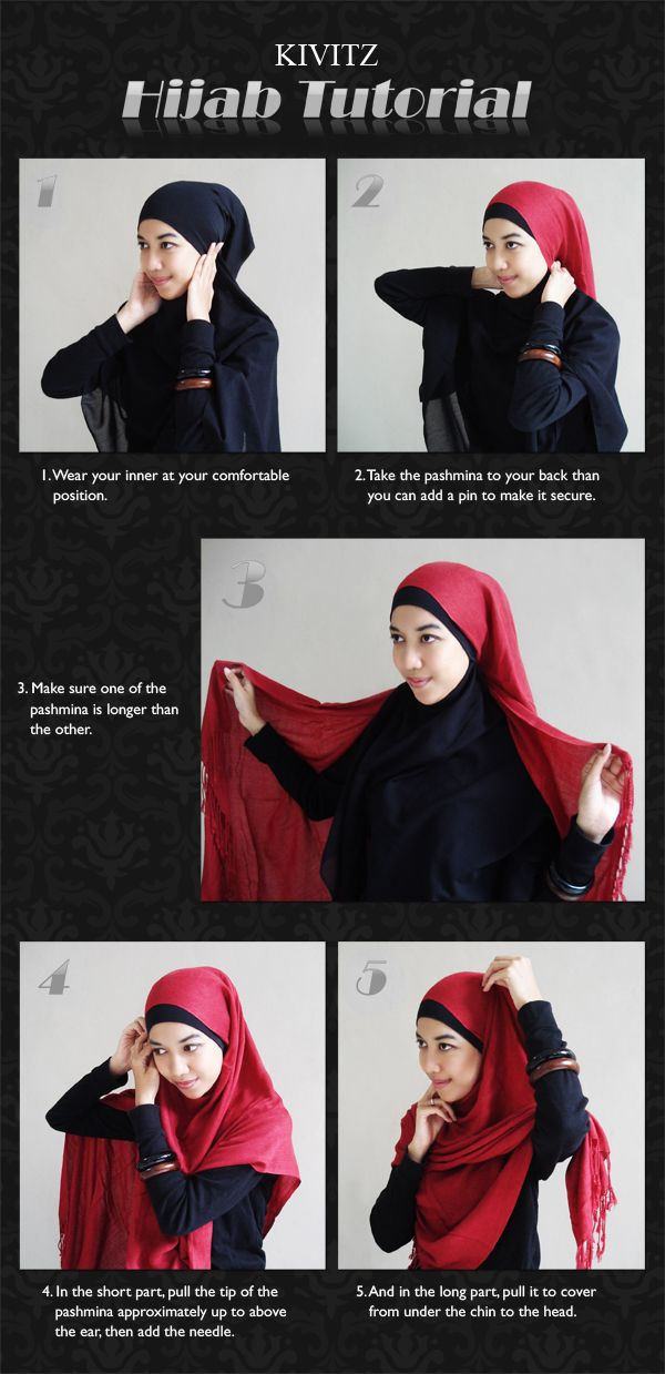 Hijab Tutorial : Pashmina - simple hijab