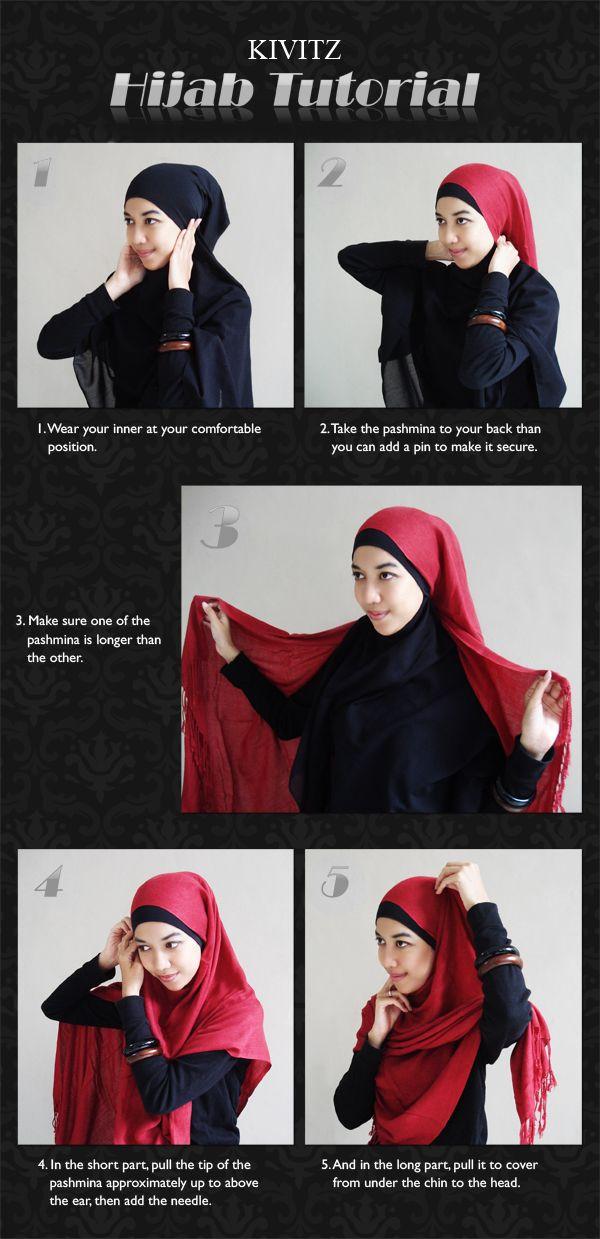 Hijab Tutorial : Pashmina - simple hijab