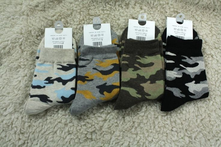 New Men-size Military Army Force Soldier Pattern Mid Ankle Cotton Socks_4options #Unbranded #Casual