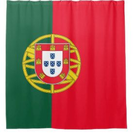 Portuguese flag quality shower curtain