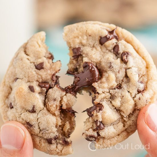 Thick and Chewy Chocolate Chip Cookies - Bakery style cookies without the bakery prices!  Ooey Gooey good.