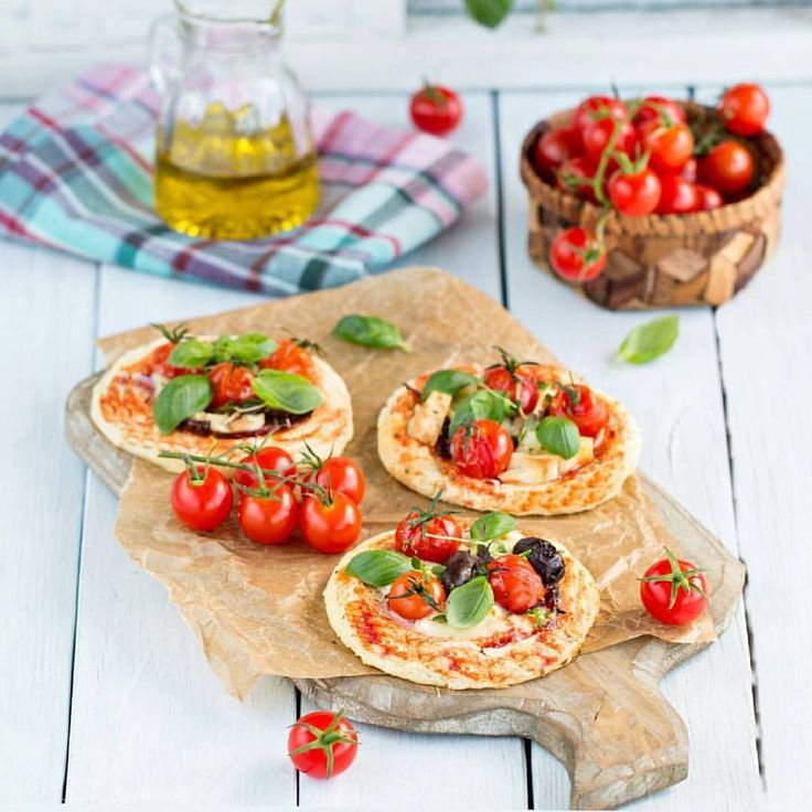 Pizza with Tomatoes, Mozzarella and Basil.