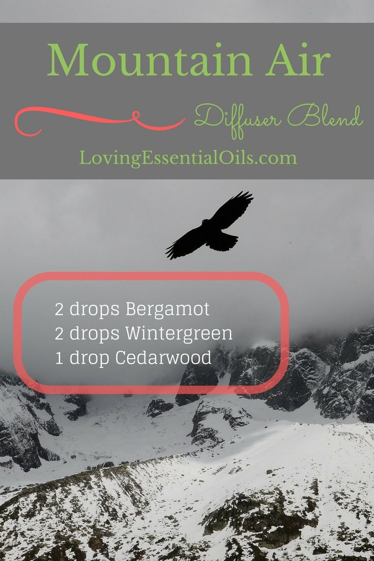 Mountain Air Essential Oil Blend | Bergamot Oil | Wintergreen Oil | Cedarwood Oil | How to Diffusing Aromatherapy Oils To Uplift Your Mood