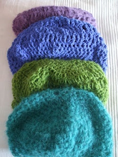 Crocheted caps for Spring -  made by Cicatricks Designs