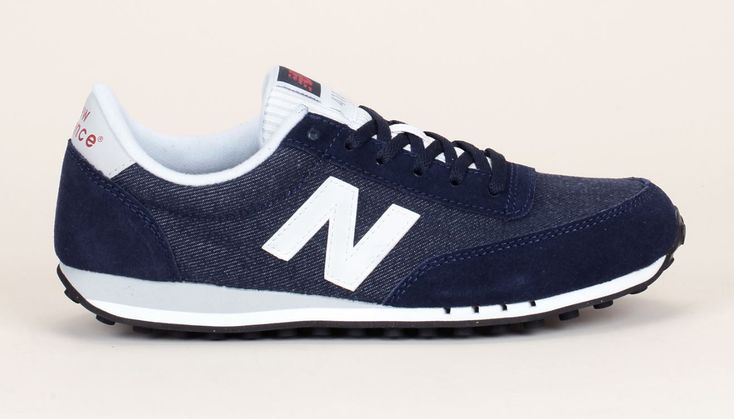 Baskets bi-matières navy denim 410 New Balance prix promo Baskets Femme Monshowroom 85.00 €