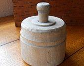 Antique Wood Butter Mold Pineapple Design Vintage Farmhouse Decor