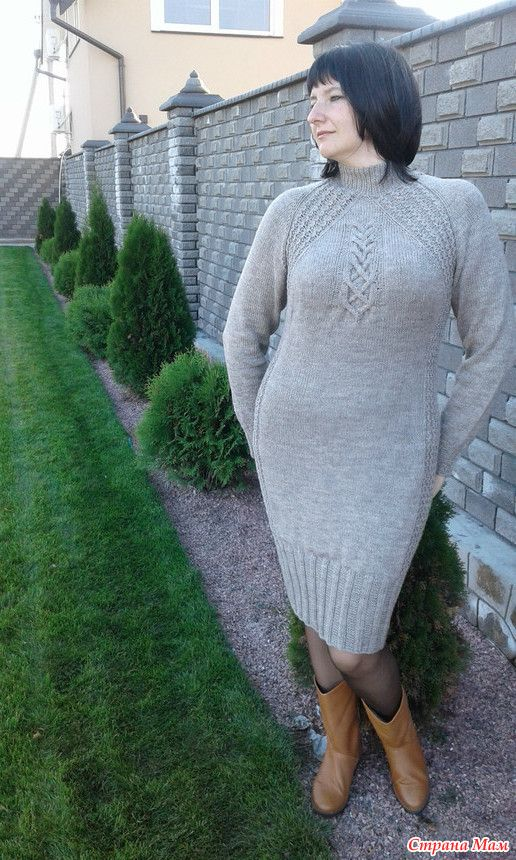 Платье спицами (по мотивам платья Akin от Norah Gaughan) - Вязание - Страна Мам