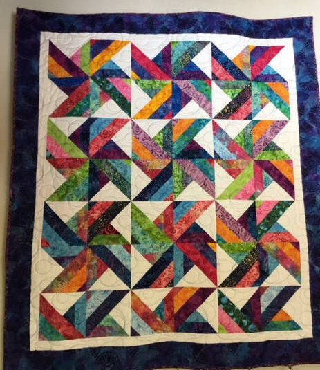 Batik Windmill Quilt, Quilts for Sale, Batik Quilts, Quilts for Gifts, Handmade Quilts, Homemade Quilts, Quilts, Handmade by NonnaQuilts on Etsy