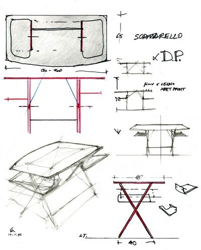 SCRITTARELLO    Tavolo scrittoio    1996 Progetto: Achille Castiglioni    1996 Produzione: De Padova