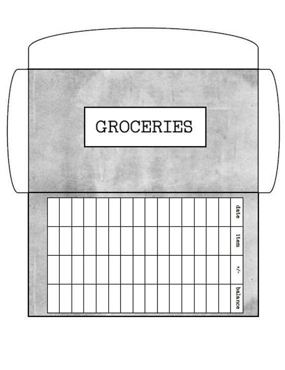 Minimalist Gray- Cash Envelopes- Budgeting Envelopes- Dave Ramsey