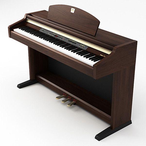 Maya Yamaha Clavinova Piano - 3D Model