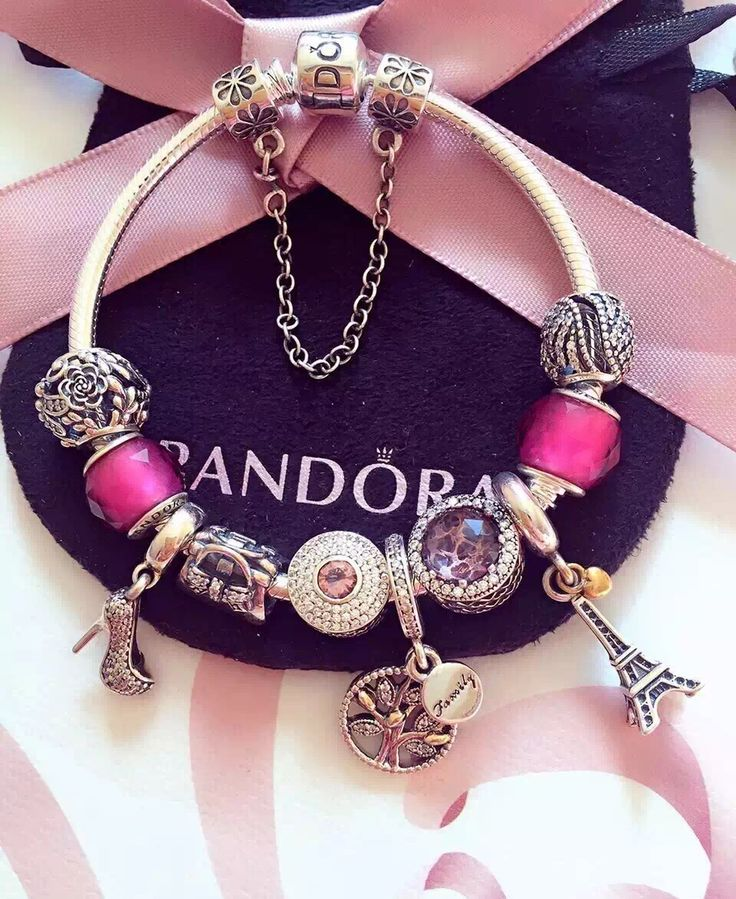 50% OFF!!! $279 Pandora Charm Bracelet Pink. Hot Sale!!! SKU: CB01891 - PANDORA Bracelet Ideas