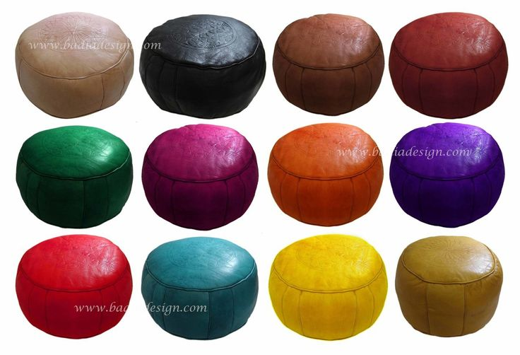 Moroccan leather ottoman including Moroccan leather pouf, leather ottoman, leather pouf, ottoman, pouf, Moroccan pouf Los Angeles, Moroccan ottoman Los Angeles, round leather pouf, round leather ottoman, leather pouf ottoman