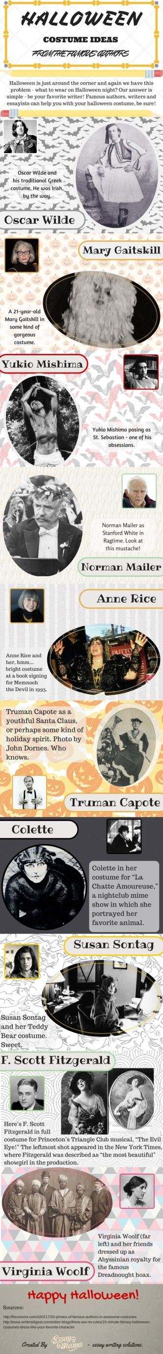 Halloween Costume Ideas From Famous Writers #infographic