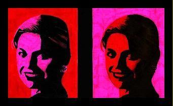 MB-BB.Andy Warhol. Alle leerlingen krijgen een dubbele foto van zichzelf die geprint is in zwart-wit. Deze moeten met slechts twee kleuren ingekleurd worden: zwart, voor de donkere gedeelten, en een zelfgekozen kleur voor de lichtere delen van het gezicht. Voor de achtergrond wordt een andere kleur gekozen. Bij de tweede foto wisselen ze de gezichts- en achtergrondkleur om.  Dit is ook leuk als verjaardagskalender.