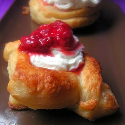 puff pastry from scratch with various ways to use it.  YUM