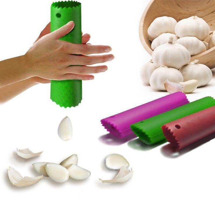 Magic Silicone Garlic Peeler Peel Easy Useful Kitchen Tools Color Random - Tmart