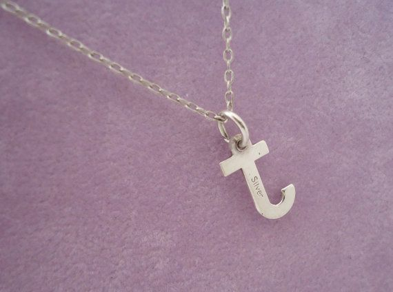 Vintage Sterling Silver Letter J Pendant by thesecretcupboard