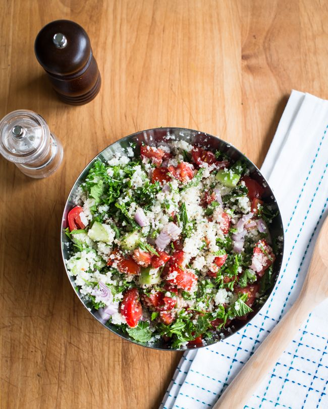 RECIPE: Cauliflower Rice Tabbouleh Salad