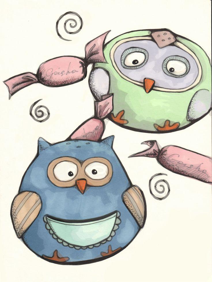 Ксюшины солонка и перечница. #owl