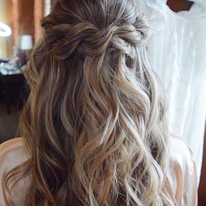 "229 Likes, 2 Comments - Perfect Wedding Magazine (@perfectweddingmag) on Instagram: ""Half-up and plaited  #hairdown #longhair #plaits #braids #hairideas #hair #weddinghair #bridalhair…"""