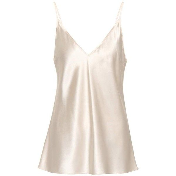 Joseph Silk Camisole (935 BRL) ❤ liked on Polyvore featuring intimates, camis, beige, silk camisole, silk cami and beige cami