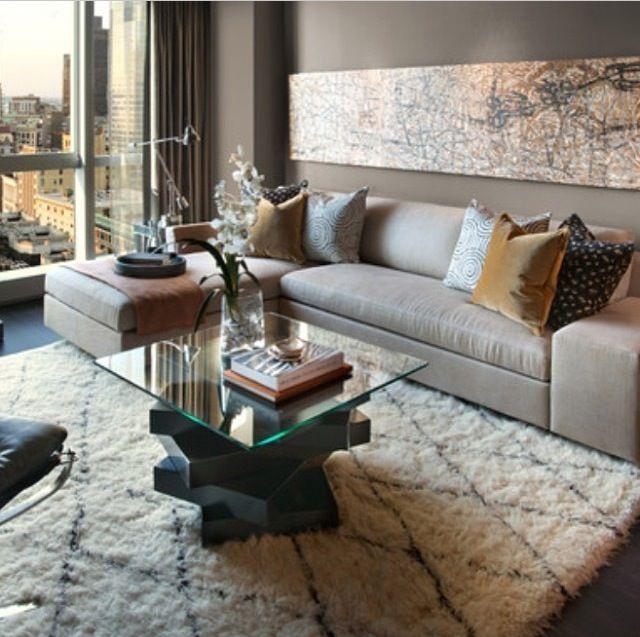 tapis marocain dans un salon moderne decoration maison. Black Bedroom Furniture Sets. Home Design Ideas