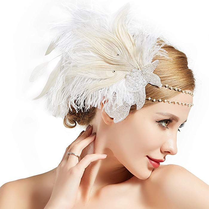 Amazon Com Babeyond Art Deco 1920s Flapper Headpiece Roaring 20s