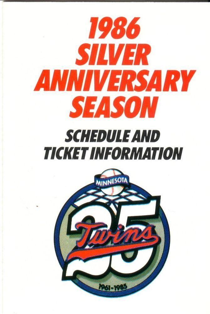 1986 minnesota twins schedule--superamerica from $1.29