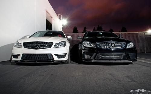 Black & White C63 AMG Coupes (by european auto source)
