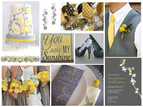 Yellow and Grey Wedding - cute sign! love the grey with yellow
