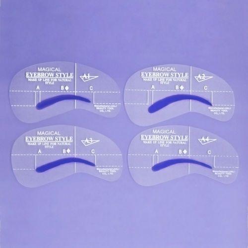 4-Sets-Augenbrauen-Schablonen-Eye-Brow-Shaping-Makeup-Eyebrow-Stencil