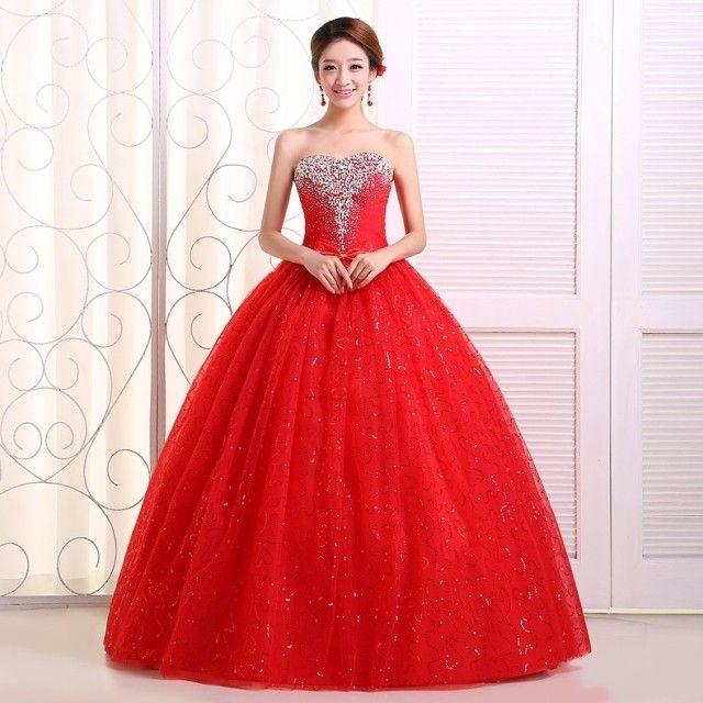 Resultado de imagen para vestidos de 15 años rojos