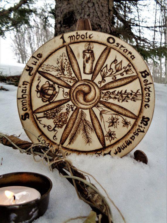 La Ruota dell'anno celtica  Streghe fate di AntroDellaQuercia